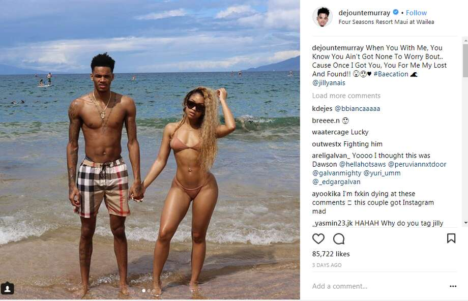 dejountemurray: When You With Me, You Know You Ain't Got None To Worry Bout.. Cause Once I Got You, You For Me My Lost And Found!! #Baecation @jillyanais Photo: Instagram Screen Captures