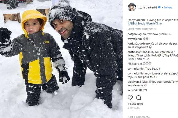 _tonyparker09Having fun in Aspen #AllStarBreak #FamilyTime