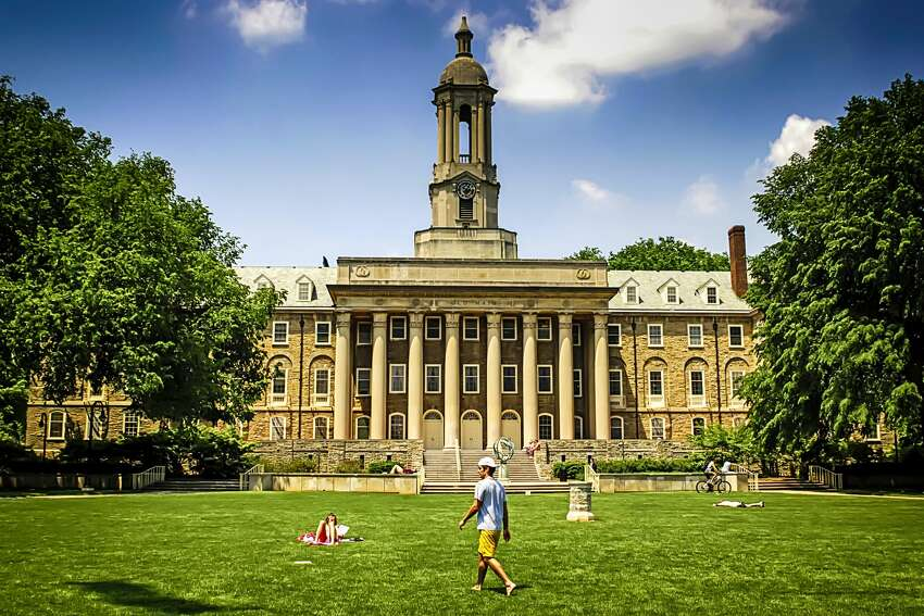 Pennsylvania State University-Main Campus Out-of-state tuition and fees: $33,664 In-state tuition and fees: $18,436 Undergraduate enrollment: 40,835 Percentage of undergraduates from out-of-state: 37% Rank: 18