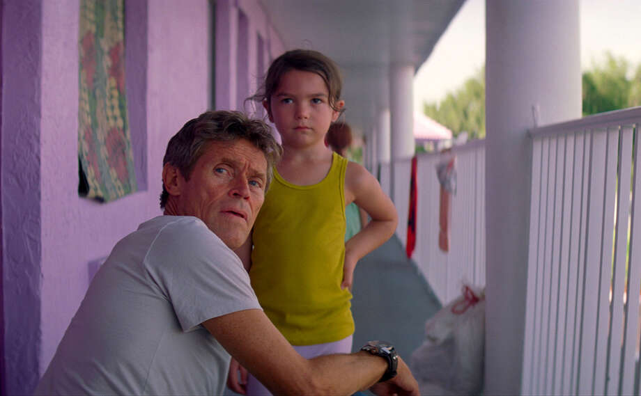 "Willem Dafoe, left, the indefatigable moral center of ""The Florida Project,"" and Brooklynn Prince. MUST CREDIT: A24 / A24"