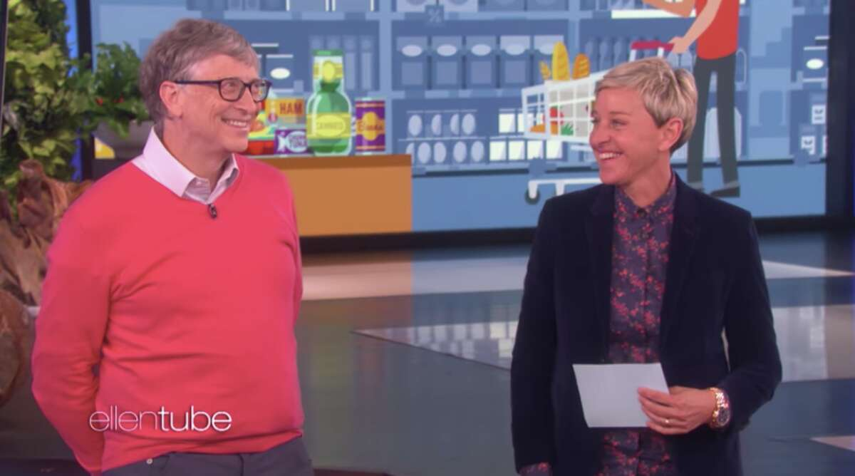 """Bill Gates appeared on """"The Ellen Show"""" to guess what standard groceries cost."""