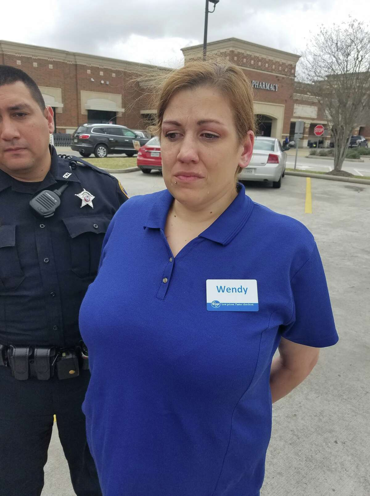 A Magnolia Kroger employee, Wendy Meyer, and Ray Drews were arrested Monday, Feb. 20and charged with credit card abuse after they allegedly used a debit card that was stolen from a Kroger customer while she was shopping on Jan. 19.