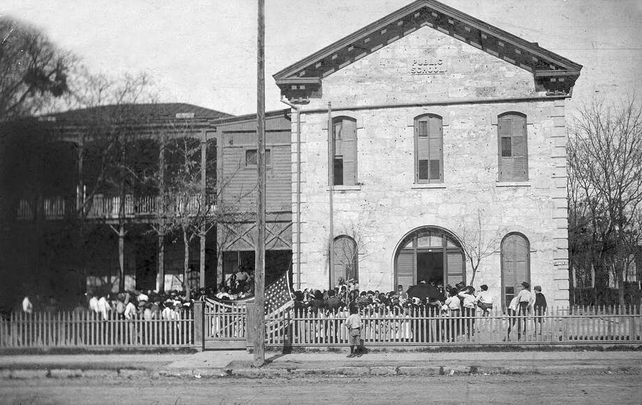 The SAISD Central Office was originally Lamar School, which opened in 1878 at 141 Lavaca. Photo: Courtesy