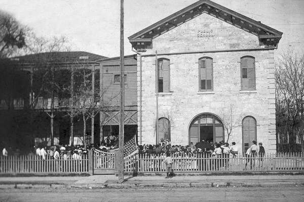 The SAISD Central Office was originally Lamar School, which opened in 1878 at 141 Lavaca.