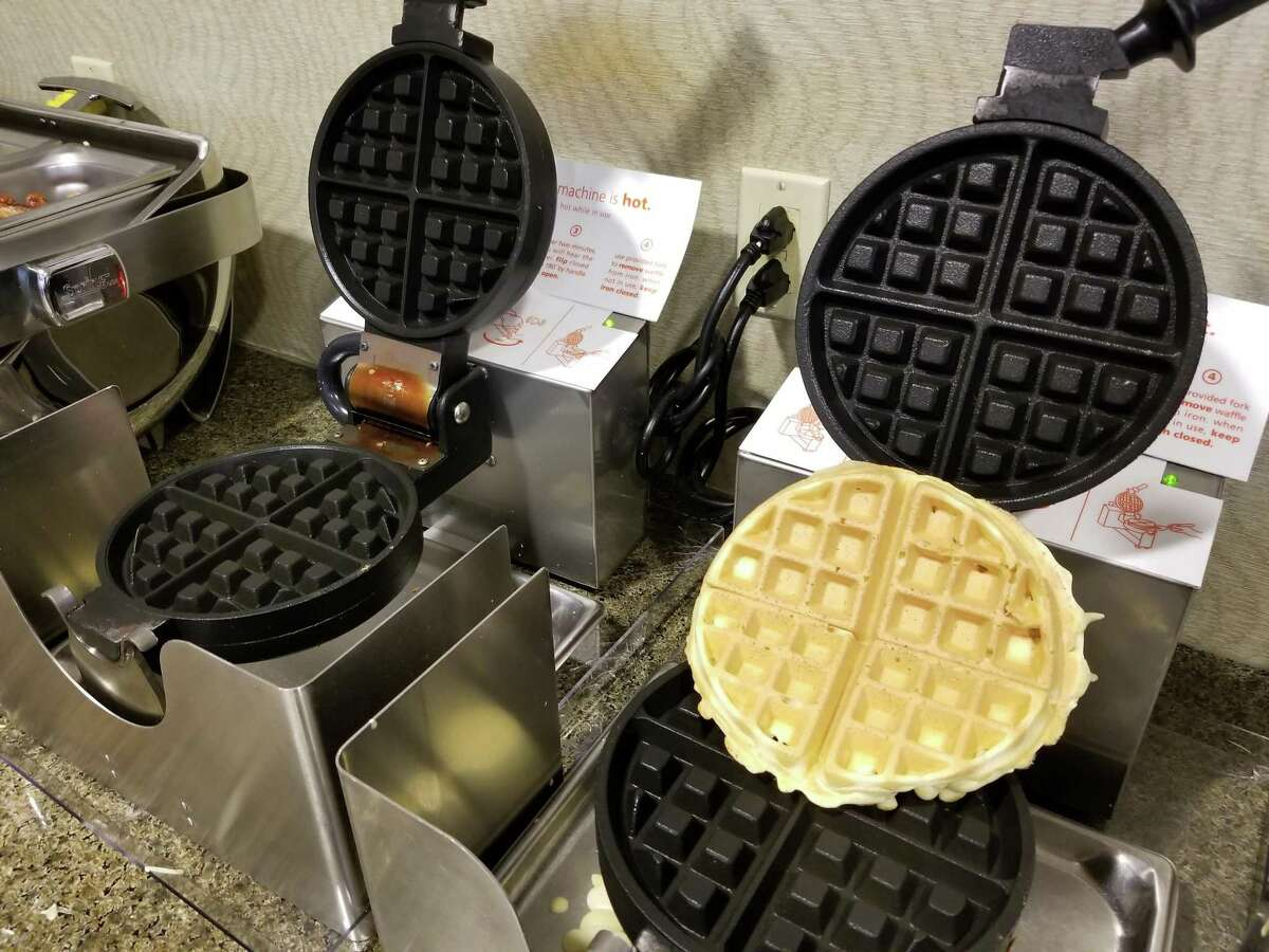 Columnist Mark Mathias shows how he makes the perfect waffle.