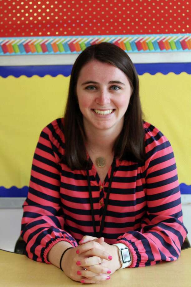 Madison Mulhern, a third grade teacher at South Elementary School in New Canaan last September. Photo: Justin Papp / Hearst Connecticut Media / New Canaan News