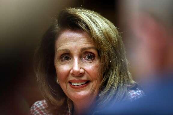 U.S. House Minority Leader Nancy Pelosi speaks to San Francisco Chronicle Editorial Board in San Francisco, Calif.on Monday, July 10, 2017.