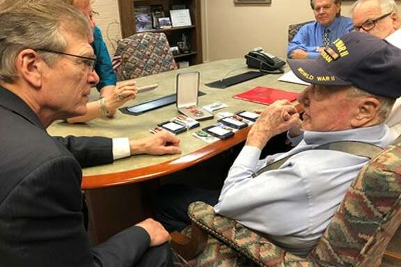 John Nichols, a veteran from Clear Lake, has finally received his medals after serving in World War II more than 70 years ago, according to a statement issued Wednesday from U.S. Rep Brian Babin who serves districts in southeast Texas.