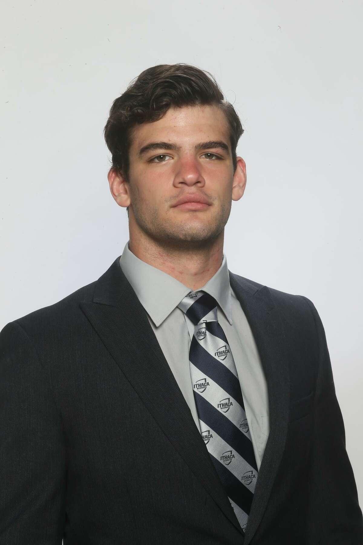 Burnt Hills graduate Jake Ashcraft of the Ithaca wrestling team. (Courtesy of Ithaca Athletics)
