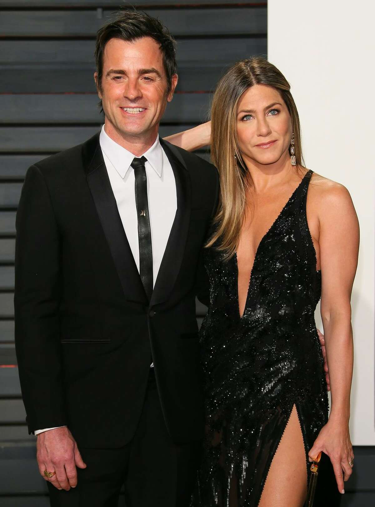Jennifer Aniston and Justin Theroux: Unlucky in love? Just two years after their secret backyard wedding, the former