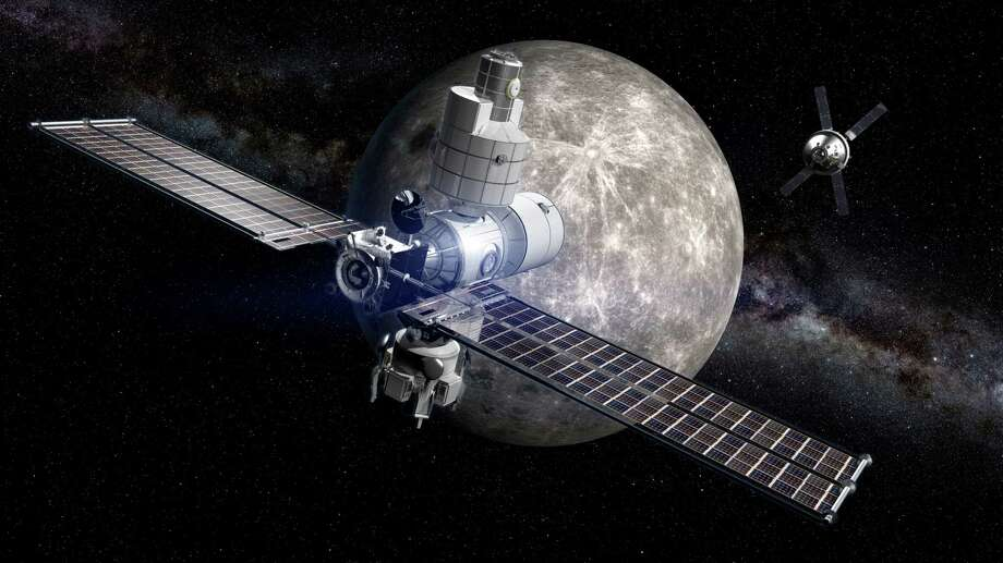 Artist concepts of the lunar gateway orbiter that Boeing is working on. Photo: Courtesy Of Boeing