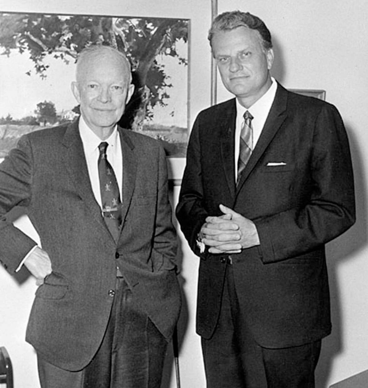Billy Graham with President Dwight D. Eisenhower in an undated photo.