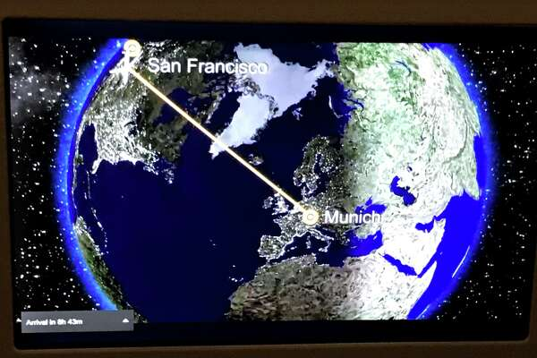 Flying time between San Francisco and Munich is about 12.5 hours
