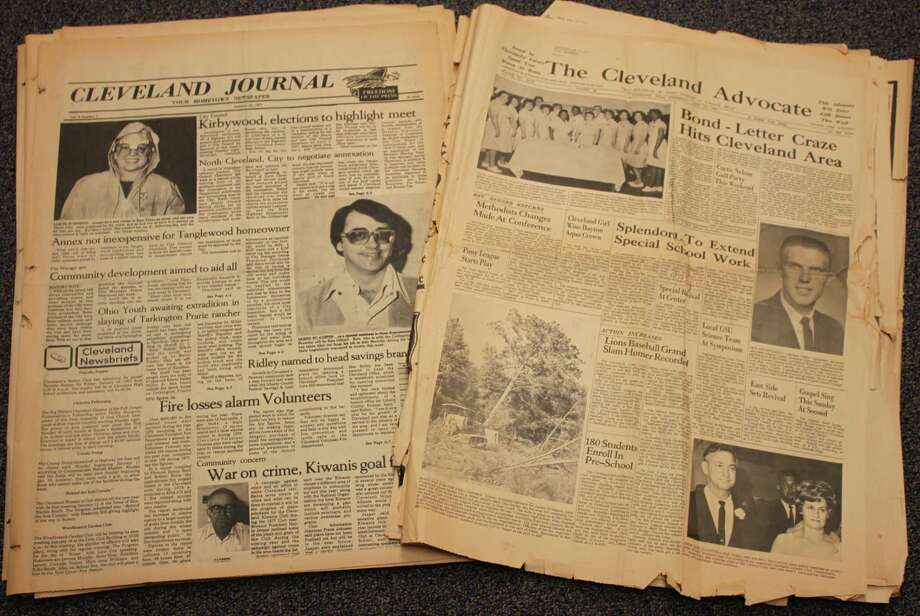 A grant from the Tocker Foundation obtained through a request from Austin Memorial Library's head librarian Mary Merrell Cohn allowed the Cleveland Advocate's print archives to be preserved online as part of the Portal to Texas History. Photo: Vanesa Brashier