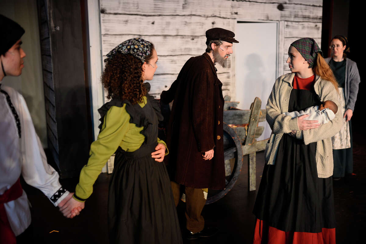 Rehearsal for Fiddler On The Roof Feb. 21, 2018 at the Yucca Theater. James Durbin/Reporter-Telegram
