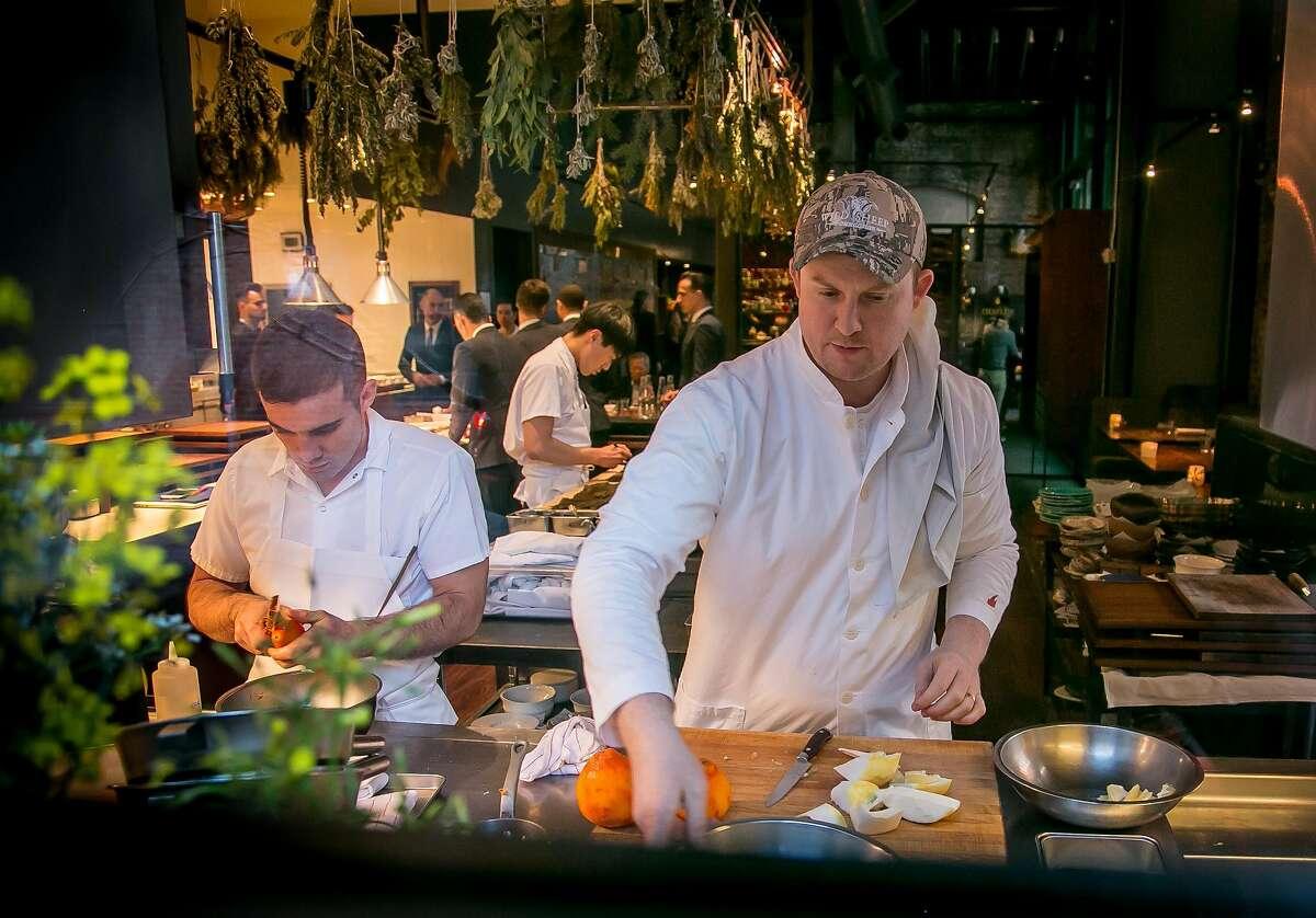 Chef Joshua Skenes of Saison in San Francisco is seen on Feb. 16, 2018.