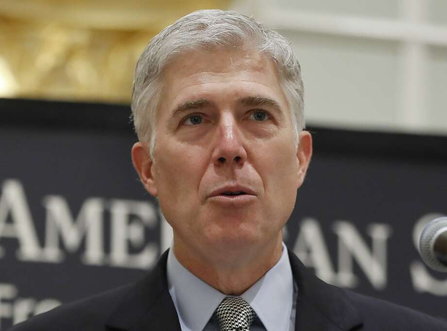 President Trump's appointment of Justice Neil Gorsuch to succeed Antonin Scalia has set the stage for Monday's hearing of the suit. Photo: Pablo Martinez Monsivais, Associated Press