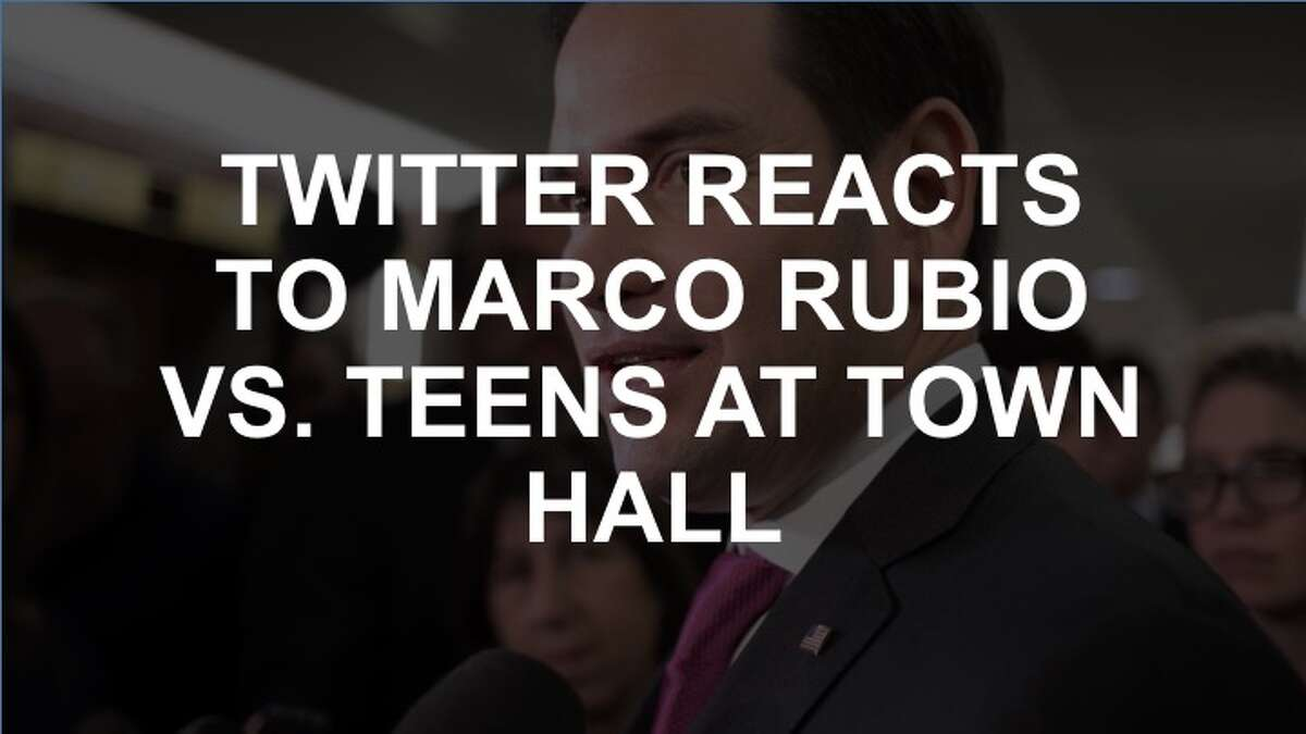 Teens had a lot to say to Marco Rubio at the town hall on Feb. 21, 2017. Twitter did too. (J. Scott Applewhite / AP Photo)