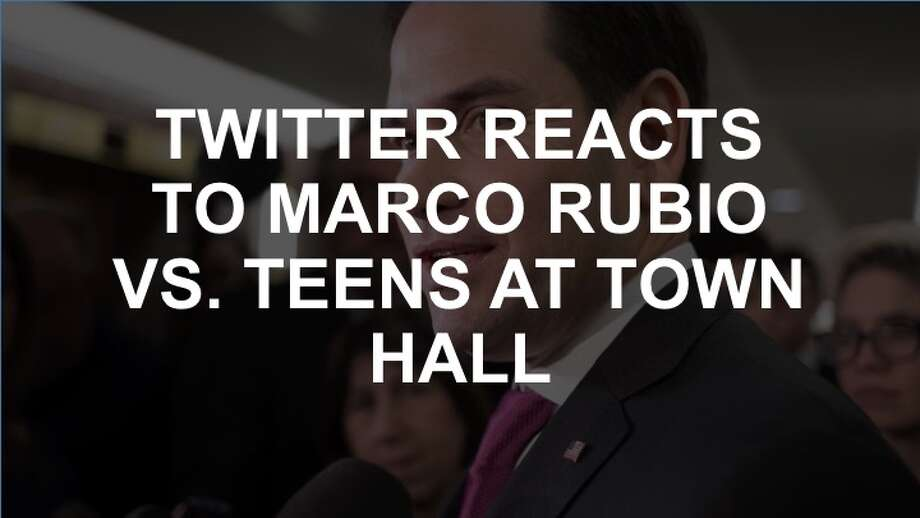 Teens had a lot to say to Marco Rubio at the town hall on Feb. 21, 2017. Twitter did too. (J. Scott Applewhite / AP Photo) Photo: J. Scott Applewhite, AP Photo