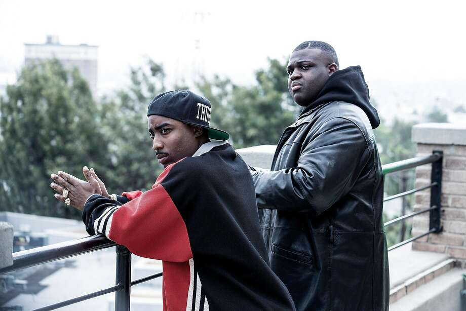 "The killings of Tupac Shakur, portrayed by Marcc Rose, and Christopher ""Biggie"" Wallace, played by Wavyy Jonez, are the subject of ""Unsolved,"" a new cold case, true-crime series. Photo: Isabella Vosmikova, USA Network"