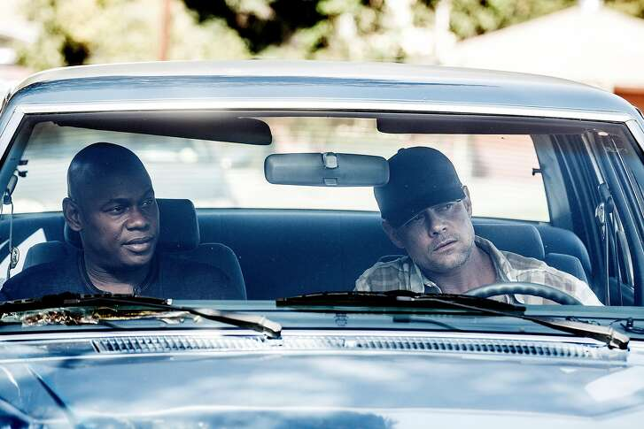 UNSOLVED: THE MURDERS OF TUPAC AND THE NOTORIOUS B.I.G. -- Episode 104 -- Pictured: (l-r) Bokeem Woodbine as Officer In Charge Daryn Dupree, Josh Duhamel as Detective Greg Kading