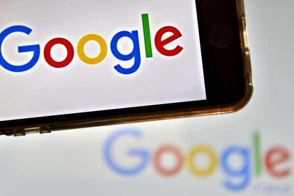 "(FILES) This file photo taken on December 28, 2016 in Vertou, western France, shows logos of US multinational technology company Google.    Google found itself at the center of controversy on August 6, 2017 after an employee in a leaked internal document claimed ""biological causes"" explained the lack of women in tech industry leadership roles.The screed -- dubbed ""sexist"" by US media -- went viral, reviving the simmering debate over a culture of sexism and lack of diversity in tech sectors.  / AFP PHOTO / LOIC VENANCELOIC VENANCE/AFP/Getty Images"