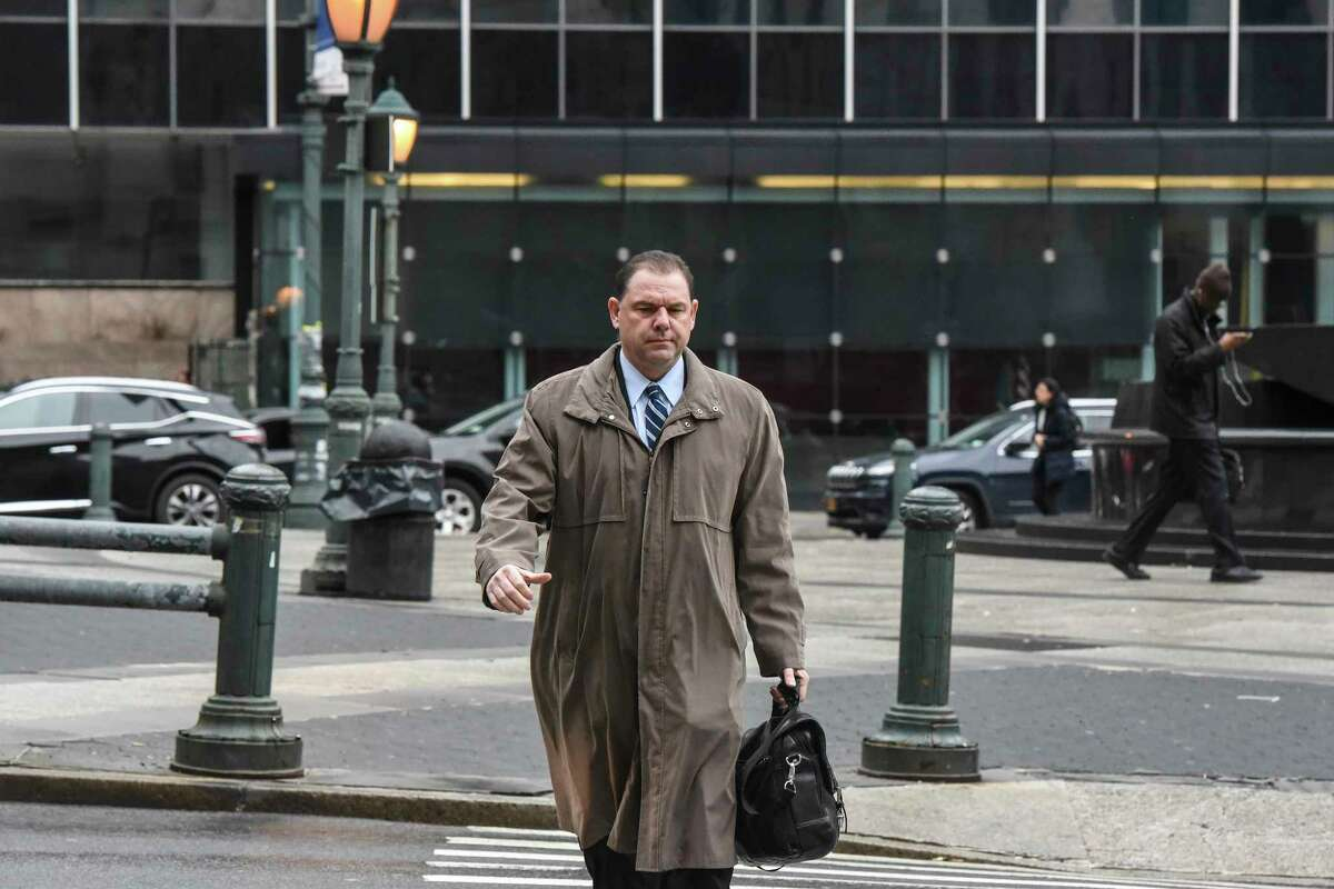 Joseph Percoco arrives for his corruption trial at the Thurgood Marshall United States Courthouse in New York, Feb. 16, 2018. For the last two weeks, Todd R. Howe, a confessed felon and former lobbyist who has flipped to tell all about his co-conspirators, has taken the witness stand in the corruption scandal that has rocked Albany. (Stephanie Keith for The New York Times)