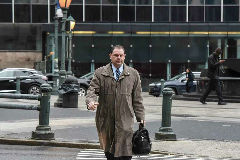 Joseph Percoco arrives for his corruption trial at the Thurgood Marshall United States Courthouse in New York, Feb. 16, 2018. For the last two weeks, Todd R. Howe, a confessed felon and former lobbyist who has flipped to tell all about his co-conspirators, has taken the witness stand in the corruption scandal that has rocked Albany. (Stephanie Keith for The New York Times) Photo: STEPHANIE KEITH / NYTNS