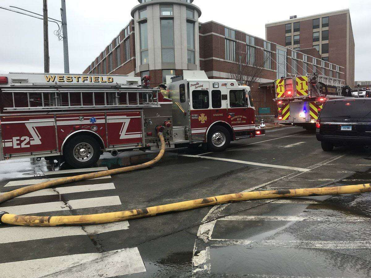 A car crashed into Middlesex Hospital in Middletown on Thursday.