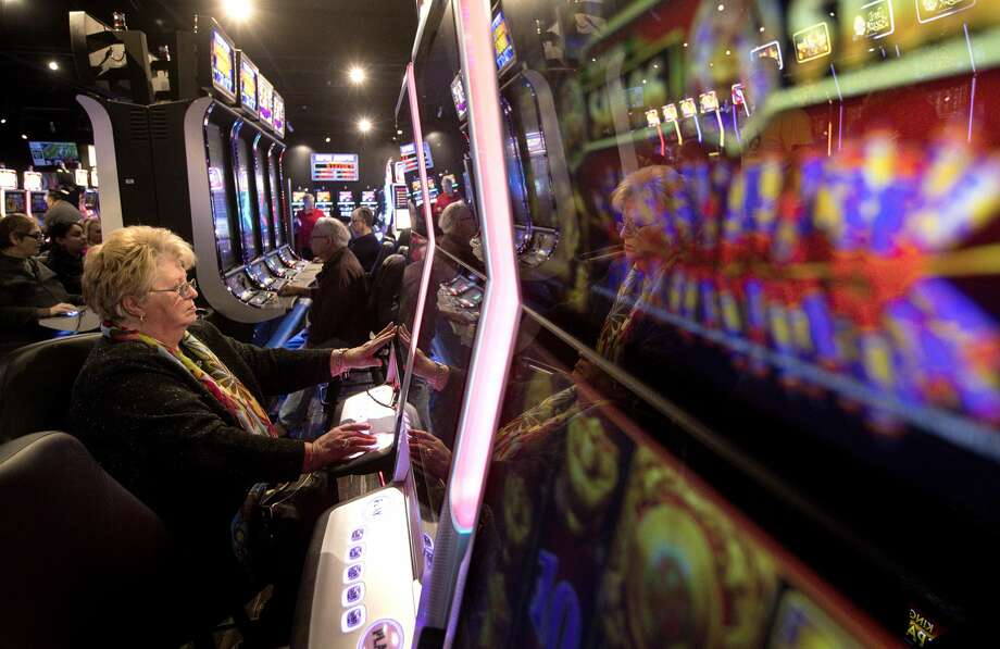 """""""Why can't we have a little fun here?"""" asks a woman named Chris, as she plays electronic games, Wednesday, Feb. 14, 2018, nearLivingston. """"I don't get what our politicians are thinking,"""" she said. Photo: Jon Shapley/Houston Chronicle"""