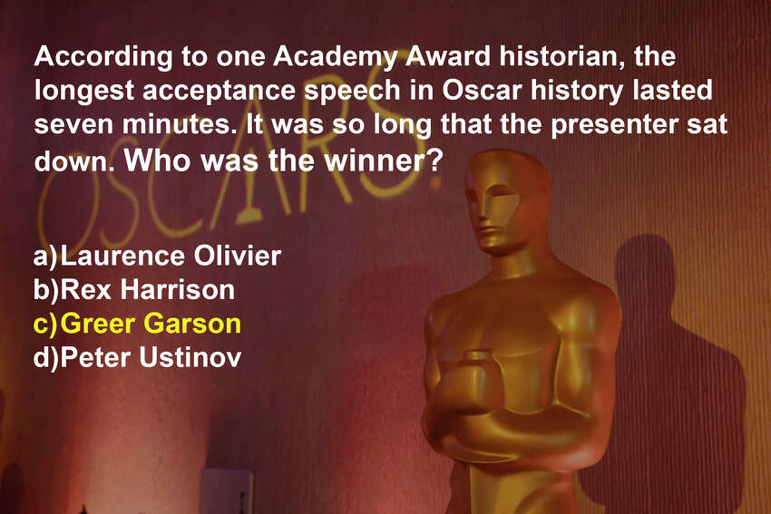 Garson won an Oscar in 1943 for the movie