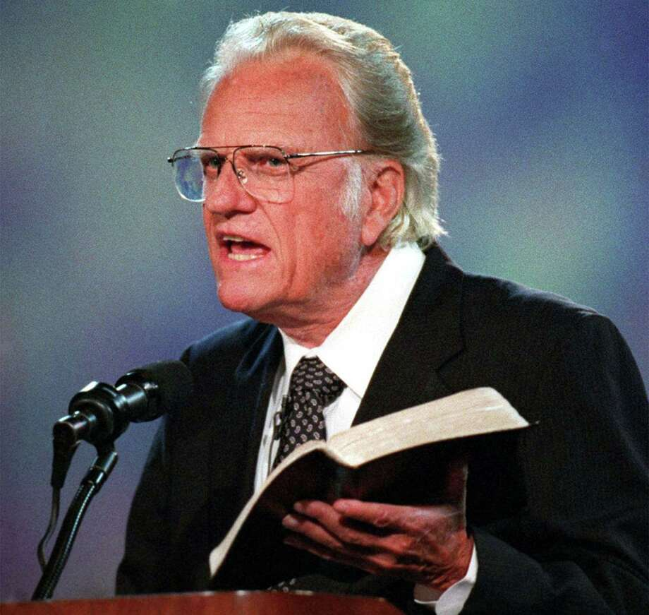 """I want us to get our eyes on Jesus this week,"" evangelist Billy Graham urged in September 1996. (Bob Leverone/Charlotte Observer/TNS) Photo: Bob Leverone, FILE / Charlotte Observer"