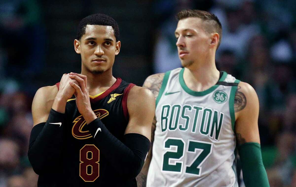 Jordan Clarkson: Clarkson, who graduated from Karen Wagner High School in San Antonio, was a part of the midseason trade between the Lakers and the Cavaliers. The Cavs point guard is averaging 14.6 points and 3.0 rebounds this season. (AP Photo/Michael Dwyer)