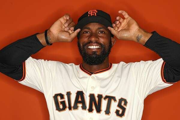 SCOTTSDALE, AZ - FEBRUARY 20: Austin Jackson #16 of the San Francisco Giants poses on photo day during MLB Spring Training at Scottsdale Stadium on February 20, 2018 in Scottsdale, Arizona. (Photo by Patrick Smith/Getty Images)