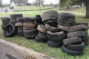 """San Antonio Missions National Historical Park : """"This weekend, 34 volunteers assisted the park during the annual Basura Bash cleanup at Piedras Creek near the Espada Aqueduct. Saturday proved to be an ideal day for cleaning the creek, with the drizzle stopping in the mid-morning. 83 tires were recycled and a large amount of trash removed during the park cleanup event. Thank you to all of our volunteers!"""""""