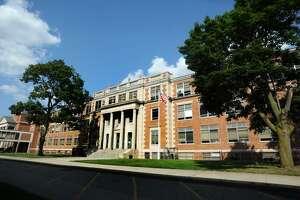 Bassick High School in Bridgeport, Conn. on Thursday, August 24, 2017.