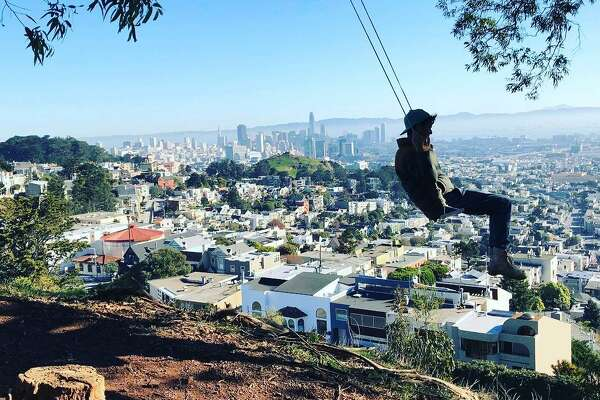 Swings have cropped up all over the city courtesy of #Swingbombsf.