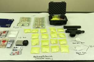 Methamphetamine and heroin was seized by Atascosa County deputies after executing a search warrant on Rossville Road.
