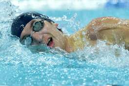 Alexander Ellison of Tomball Memorial competes in the Class 5A boys 200-yard freestyle during the UIL State Swimming & Diving Championships at the Lee and Joe Jamail Texas Swim Center on Saturday, Feb. 17, 2018, in Austin.