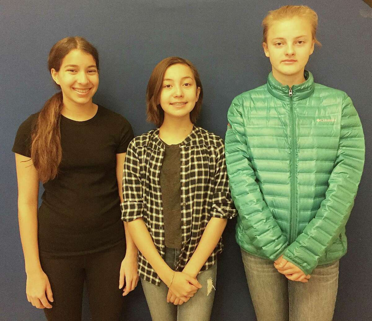 Three Coleytown Middle School students, Sophie Alcyone, Izabela Pauliny, Lily Murphy, have been selected for entry in the state-level competition of Reflections, a national PTA art contest.