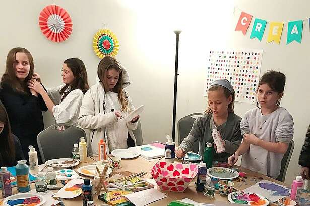 New Canaan kids enjoy a winter art class at the Carriage Barn Arts Center. A new session will be offered for kids ages 7-9 on Thursday afternoons March 1 and 8.