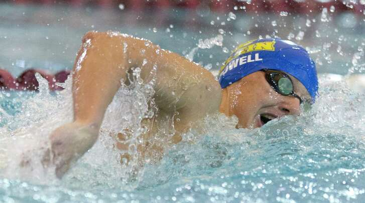 Klein's Jacob Powell competes in the boys 200-yard freestyle during the Region IV-6A Swimming & Diving Championships at the Conroe ISD Natatorium Saturday, Jan. 4, 2017, in Shenandoah.