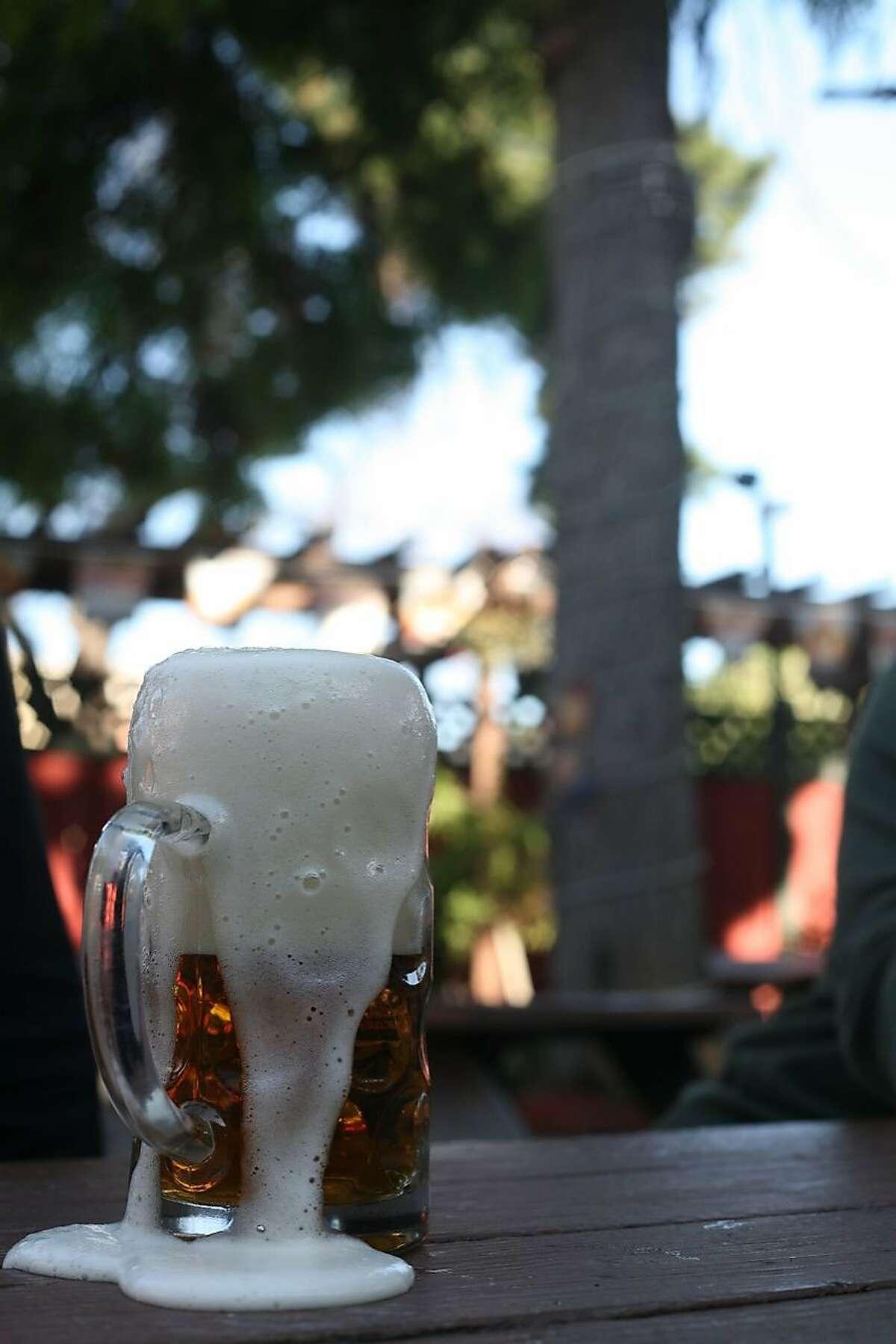 Not as impressed at Oasis Beer Garden in Menlo Park.