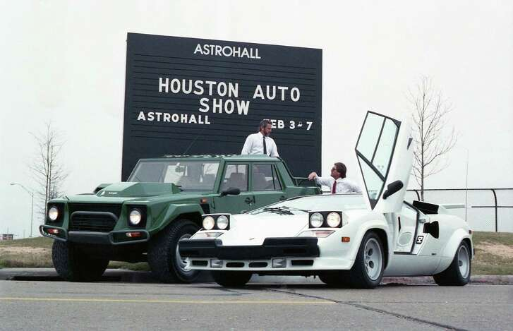 Outside the Houston Auto Show, Feb. 2, 1988.