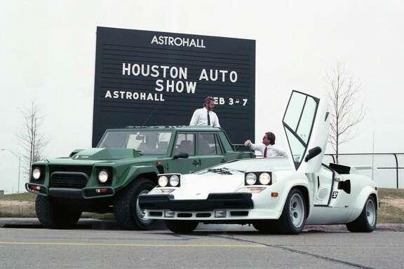 Outside the Houston Auto Show, Feb. 2, 1988.