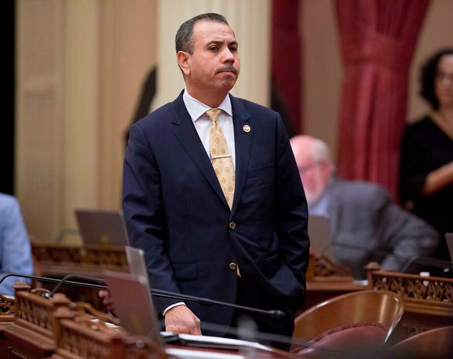 Tony Mendoza of Artesia (Los Angeles County) resigned last week as a Democratic state senator amid sexual harassment allegations. Photo: Steve Yeater, Associated Press