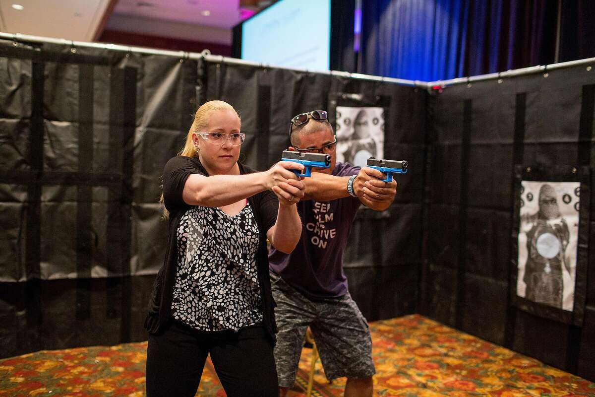 FILE -- School safety officers train to respond to an active threat at a workshop in La Quinta, Calif., July 16, 2014. Most law enforcement experts argue that teachers should not carry guns because they lack the tactical knowledge of handling weapons in stressful situations. (Monica Almeida/The New York Times)
