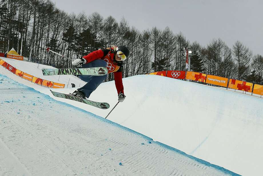 Elizabeth Marian Swaney, of Hungary, jumps during women's halfpipe qualifying at Phoenix Snow Park at the 2018 Winter Olympics in Pyeongchang, South Korea, Monday, Feb. 19, 2018. (AP Photo/Gregory Bull) Photo: Gregory Bull, Associated Press