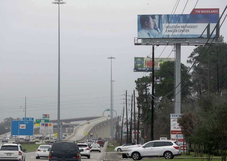 Billboards are shown along I-45 northbound near Highway 242 Thursday, Feb. 22, 2018 in The Woodlands ( Melissa Phillip / Houston Chronicle)