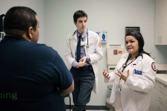 Rosa Aramburo, a fourth-year student who intends to practice obstetrics and gynecology, is on a rotation in a neurology intensive-care unit while studying at Loyola University Chicago's Stritch School of Medicine.